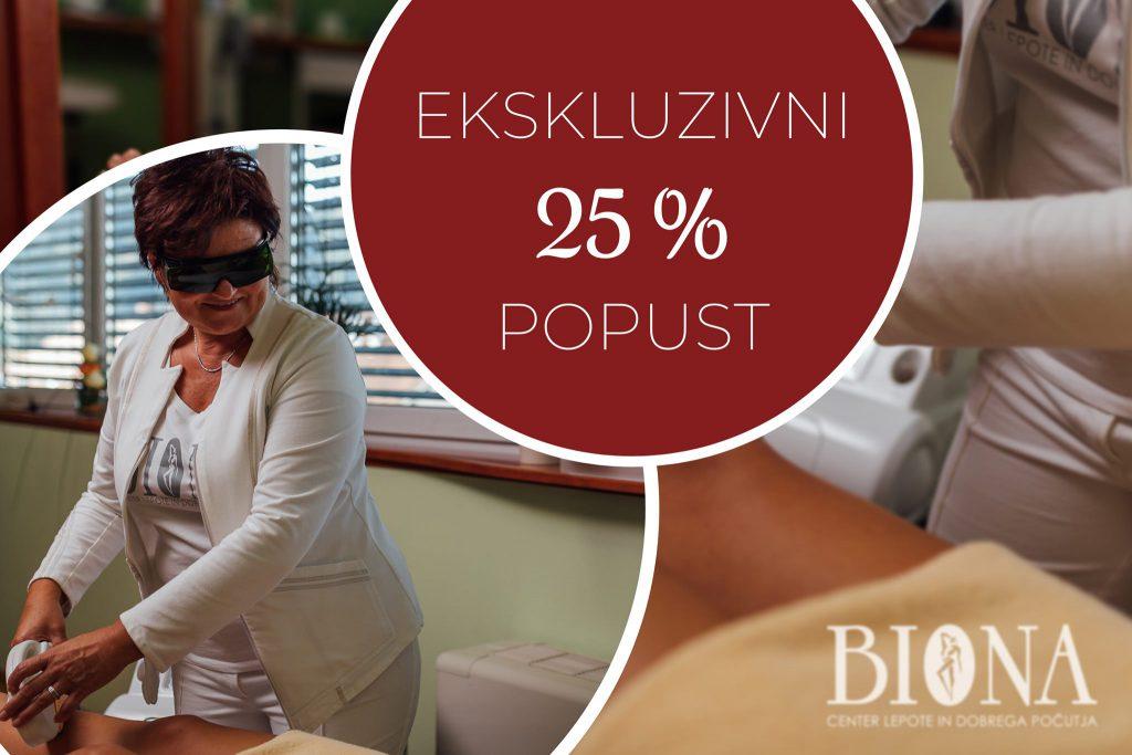 biona akcija 25%popust